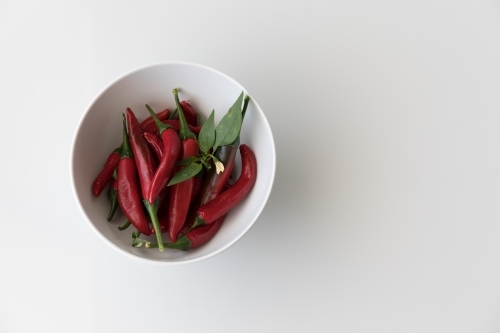Chillis In A White Bowl - Left