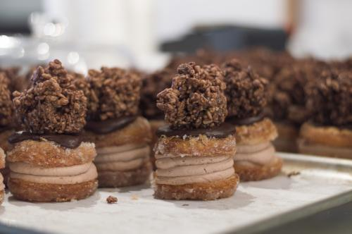 Chocolate Crackle Cronut Dessert