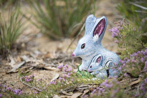 chocolate easter foil bilby in australian bush