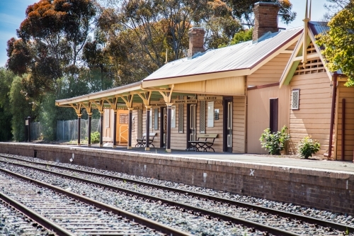 Country train station in Coolamon