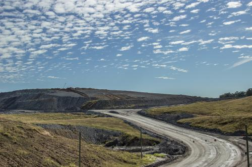 Dirt track to an open cut coal mine