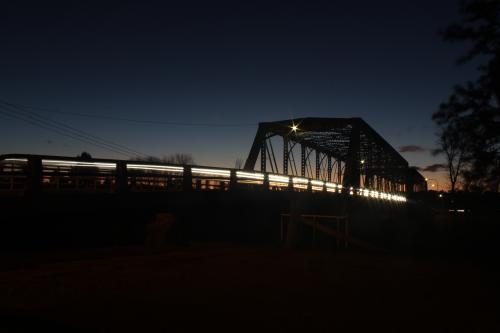 Dunolly Bridge, Singleton silhouetted after sunset