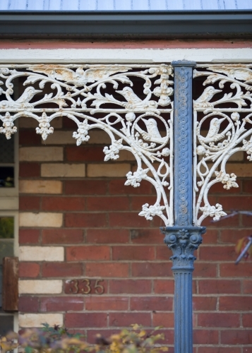 close up of lacework on a heritage home