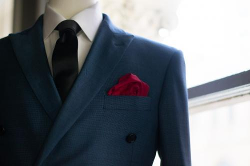 Close up of suit on a mannequin