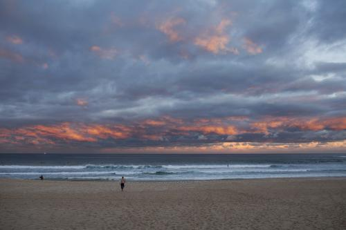 Clouds over Bondi Beach at sunset