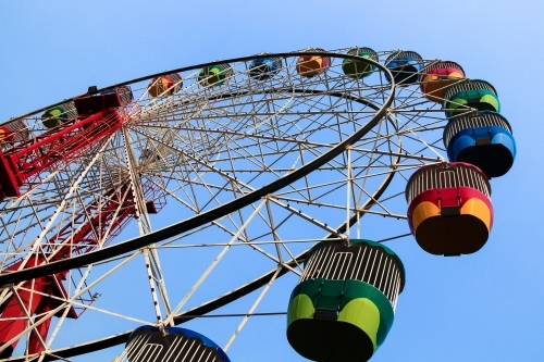Colourful ferris wheel at Luna Park