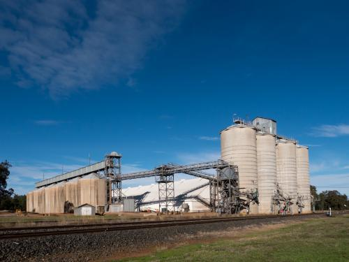 Concrete grain silos and buildings