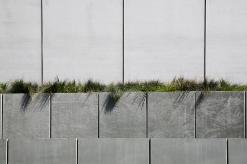 Concrete Panels with Landscaping