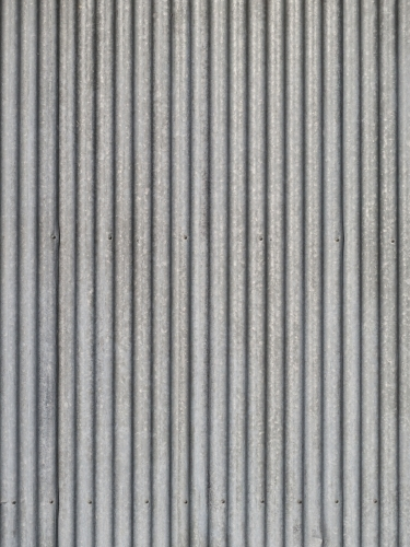 Corrugated Iron on the side of a shed
