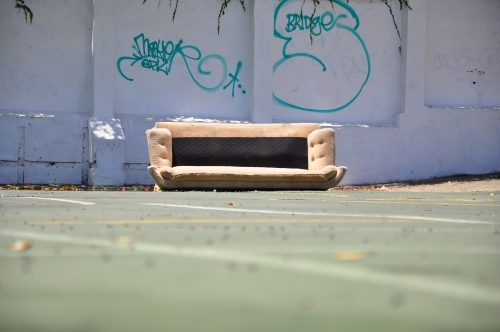 Couch on the street