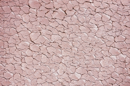 cracks in surface of dry lake bed