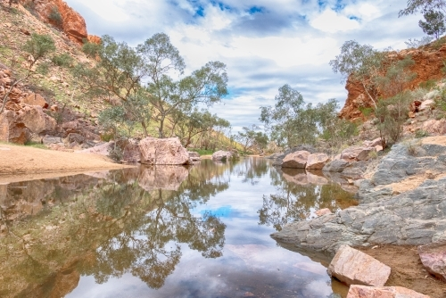 Creek and rocks in Simpsons Gap, Northern Territory