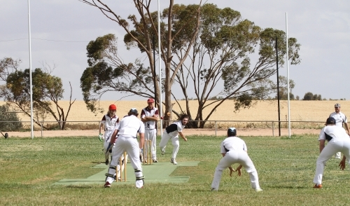 Cricket game at Blyth Oval