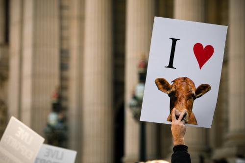 Demonstration placard at anti live export rally