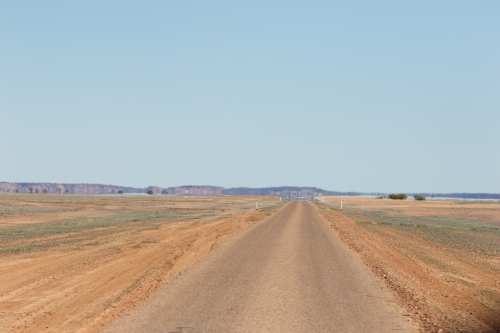 Deserted road in the outback