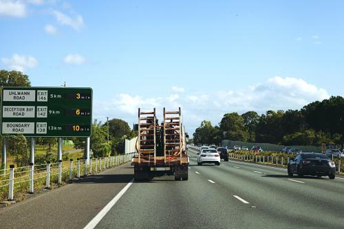 Driving down the motorway from the Sunshine Coast to Brisbane