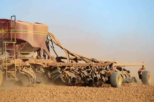 Dry sowing a winter crop