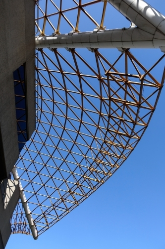 Underside view of the Melbourne Arts Centre