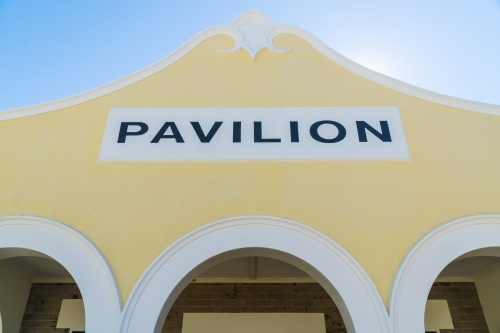 The facade of an historic pavilion