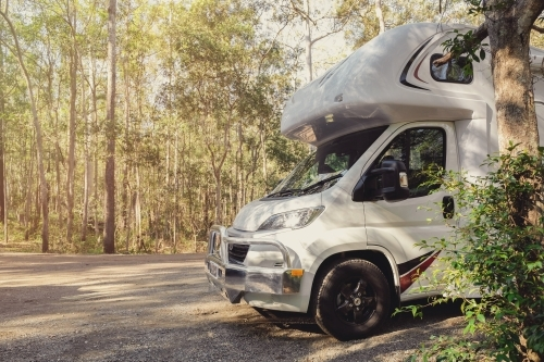 Campervan in the forest