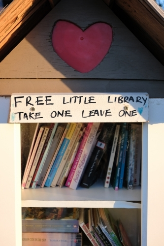 A free little public library take one leave one