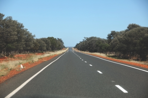 Empty road in the New South Wales outback