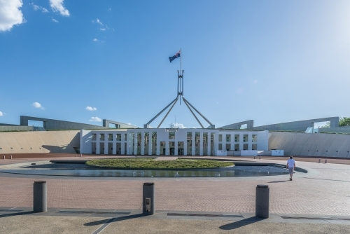 Exterior of parliament House, Canberra