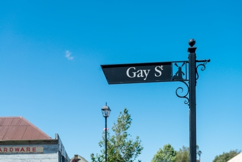 "fancy, fabulous street sign with ""gay st"""
