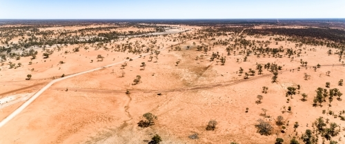 Farm in drought, western Queensland.