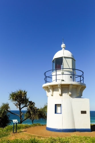 The historic lighthouse at Fingal Head.