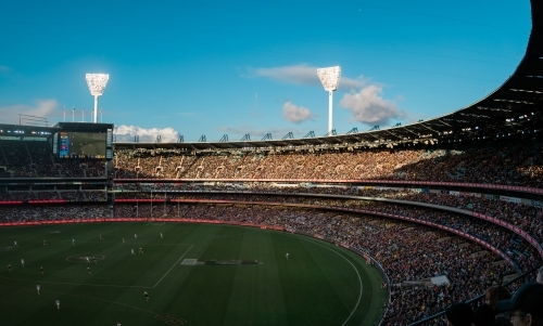 Football Played at MCG on a Late Sunny Afternoon