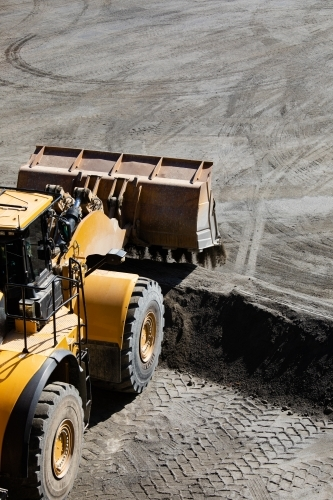 Front end loader working at a quarry
