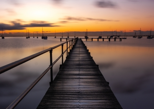 Geelong Waterfront Pier at Sunrise