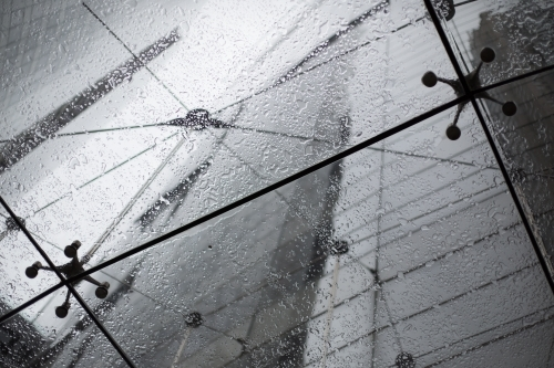 Glass Awning in the Rain