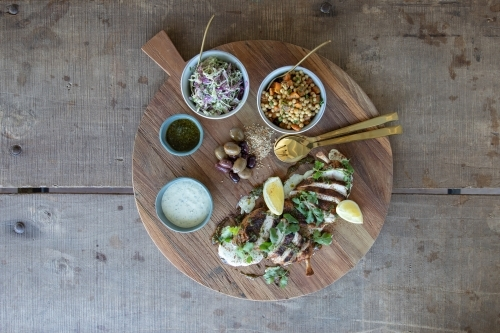 Gourmet Grazing Platter on Rustic Table