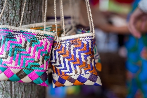 Hand made woven bags