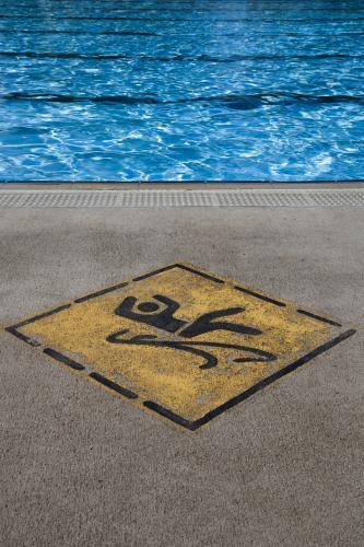 hazard sign at a public swimming pool in Young, NSW