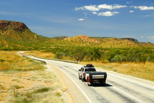 Caravanning along the Great Northern Highway in the Kimberley region of Western Australia.