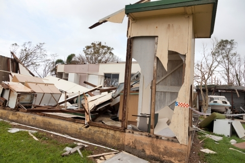 House wreckage after Cyclone Debbie, 2017