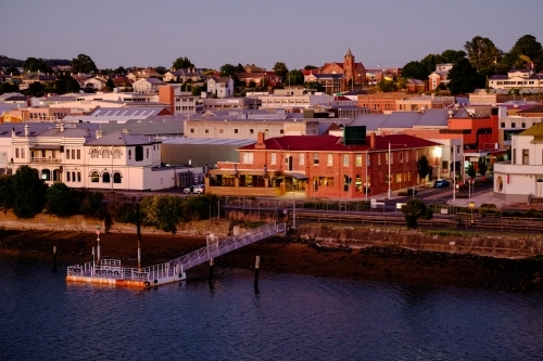 Houses of Devonport, Tasmania shot from the Harbour