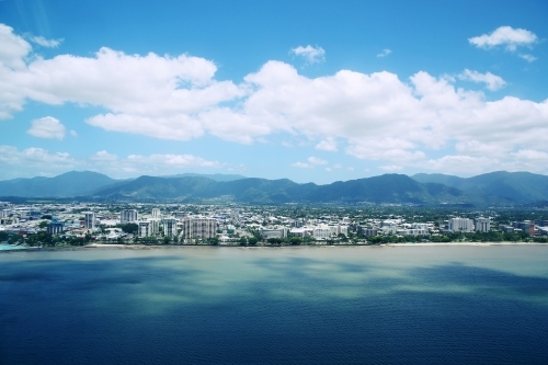 Out look of Cairns from the ocean