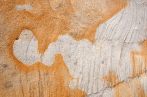 Iron staining in sandstone