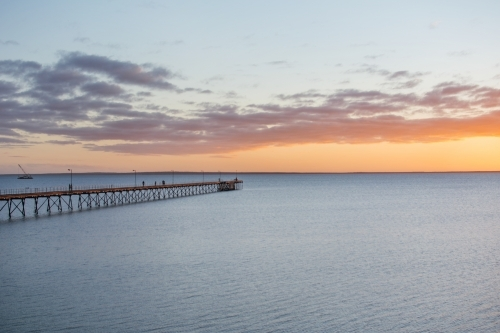 Jetty at sunset in Ceduna