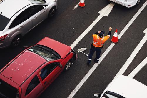 Minor car accident on the Pacific motorway