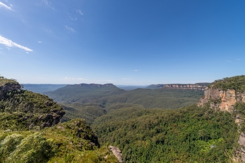 Katoomba, Blue Mountains with wide angle lens