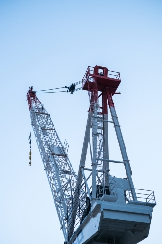 Large construction crane