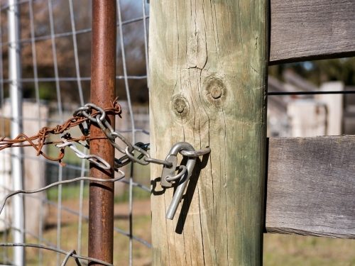Latch on a farm gate