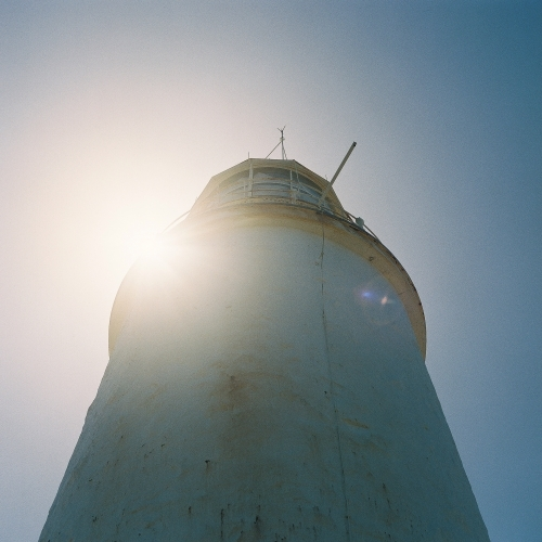 Lighthouse with Sun-flare