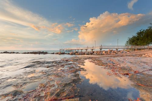 Nightcliff Jetty Darwin with water and reflections
