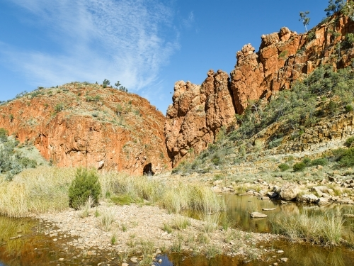 Glen Helen Gorge at the West MacDonnell Ranges
